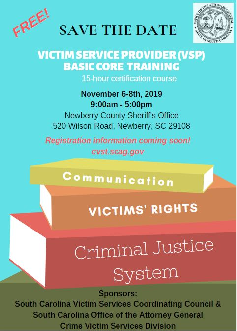 CVST Approved Trainings - South Carolina Attorney